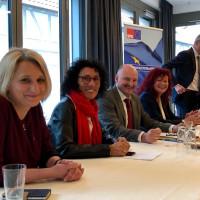 Pamela Nembach, Helga Raab-Wasse, Kerstin Westphal, Bernd Rützel und Uli Maly